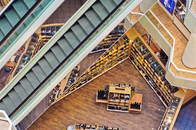 obchodní dům pohled z výšky